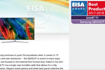 samsung-QE55Q7F-wins-eisa-award